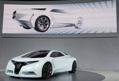 Компания Honda представила модель нового спорткара, работающего на водороде