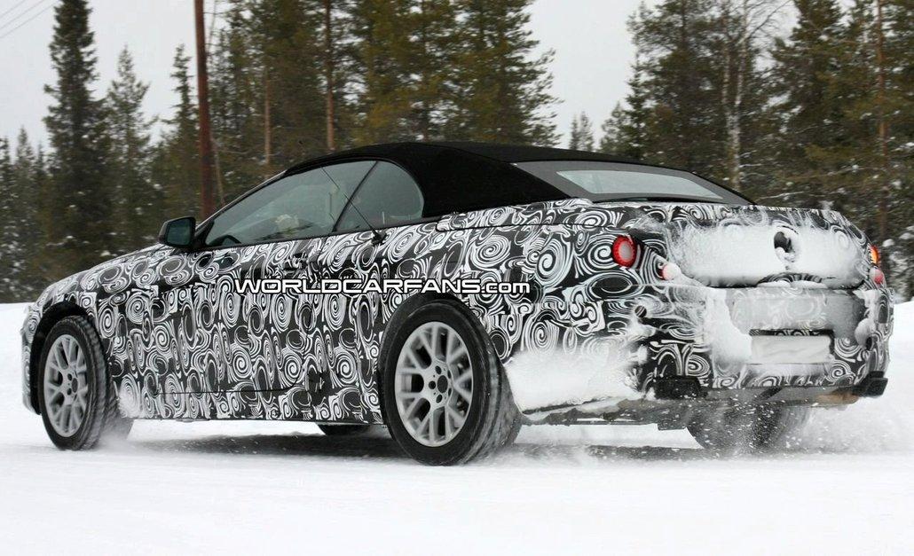 BMW провел снежные тесты испытания нового поколения кабриолета 6-й серии 2011 модельного года