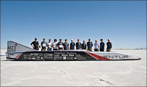 Авто Venturi Buckeye Bullet установило новый мировой рекорд скорости