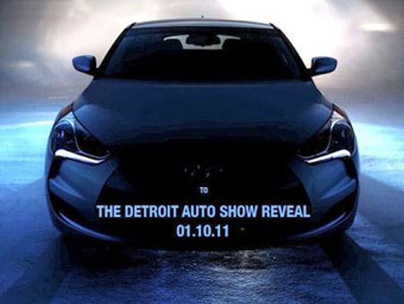 Hyundai показала первую официальную фотографию нового купе