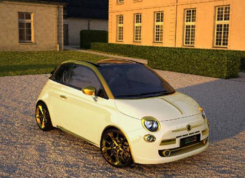 Китайский миллионер приобрел Золотой Fiat 500