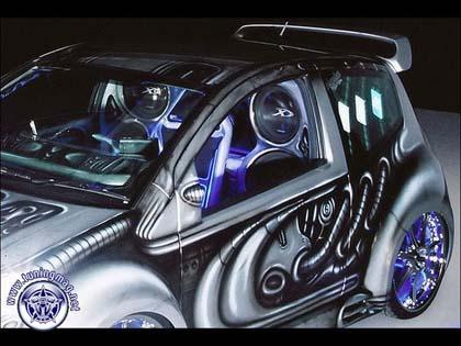 Alien Citroen C2: инопланетянин от SQ Plus