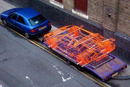 lamborghini_1 Британский художник воссоздал Lamborghini Countach из проволоки