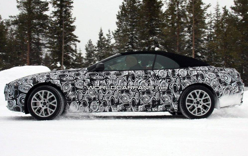 32 BMW провел снежные тесты испытания нового поколения кабриолета 6-й серии 2011 модельного года