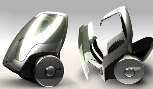 4 General Motors и Segway представили концепт двухколесного автомобиля