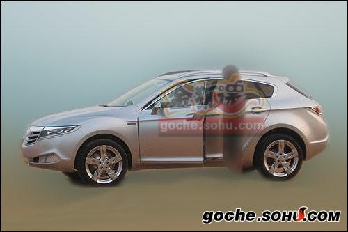 Дизайн нового кроссовера спереди напоминает Nissan Murano, а в профиль - Lexus RX и Mazda CX-7