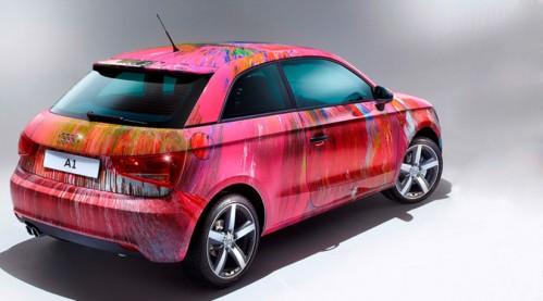 Audi_A1_by_Damien_Hirst-499x277 Разукрашенный хэтчбек Audi A1 купили на аукционе за 420 тыс. евро