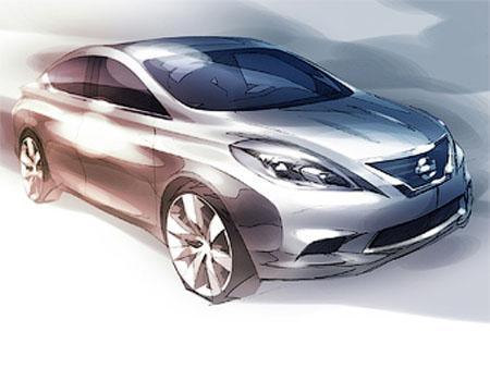 picture1 Nissan рассекретила седан Versa нового поколения