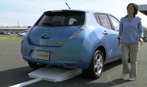 Leaf_induction_charging_610x346 Nissan создает беспроводное зарядное устройство