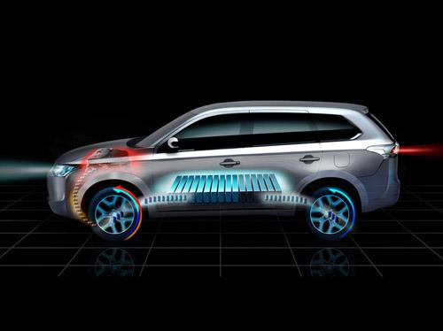 bg800_461203 Mitsubishi покажет в Париже полноприводный внедорожник на электротяге