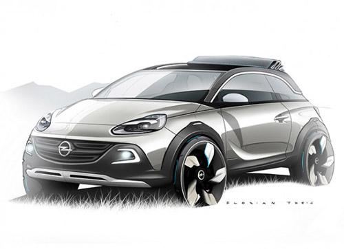 2991 В Женеве Opel покажет кроссовер на базе Adam
